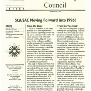 1996 - Newsletter NYSCAWin Spring