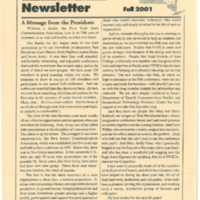NYSCA Newsletter Fall 2001