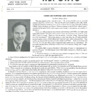 NYSSA Reports  1974 Convention Issue